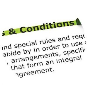 Adherence to terms of agreement